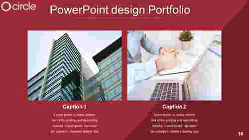 Modern powerpoint design portfolio
