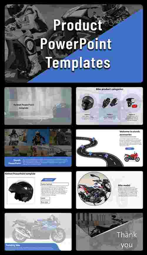 powerpoint product template for bike