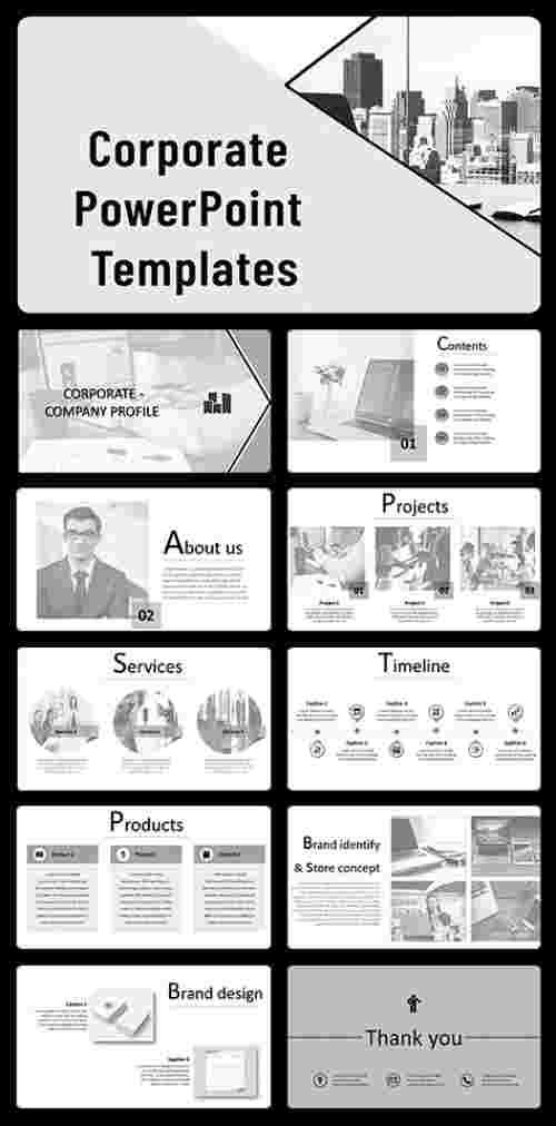 Corporate PowerPoint template slides