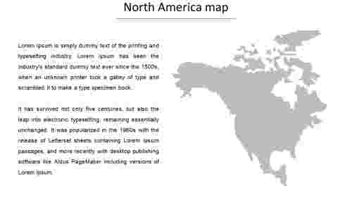 north america map powerpoint