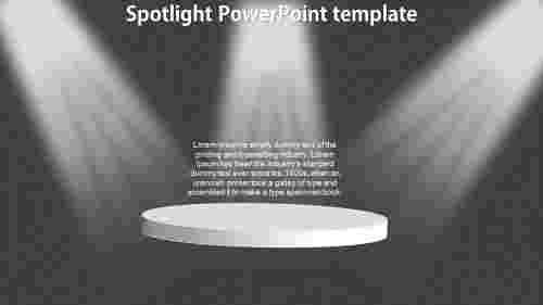 SpotlightPowerPointtemplate-ovalmodel