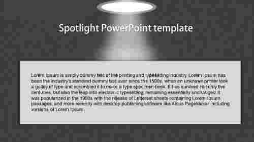 SimpleSpotlightPowerPointtemplate