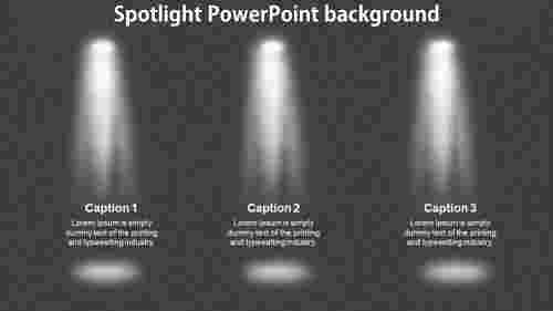 Spotlight PowerPoint background template