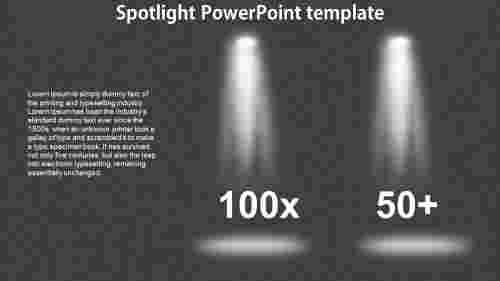 TwonodedSpotlightPowerPointtemplate