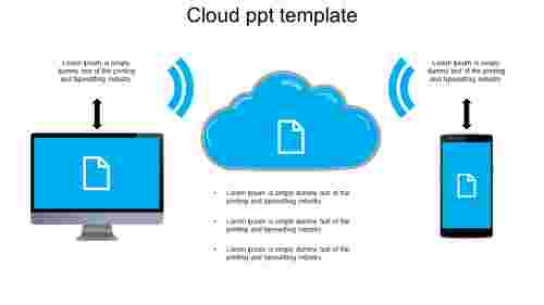 cloud ppt template for company