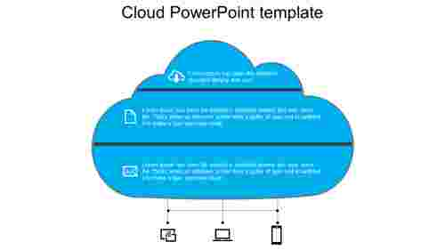 Company cloud powerpoint template