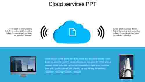 Editable cloud services PPT