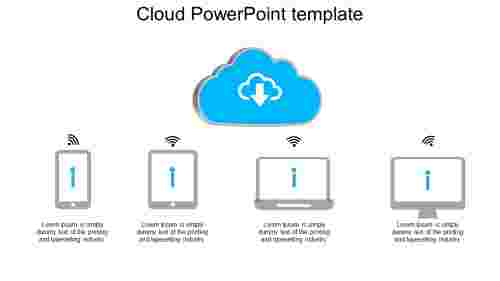 Best cloud powerpoint template
