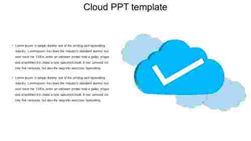 cloud PPT template usage