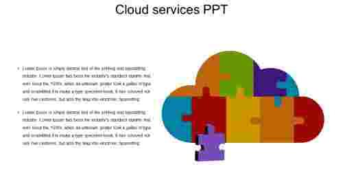 cloud services PPT - puzzle model
