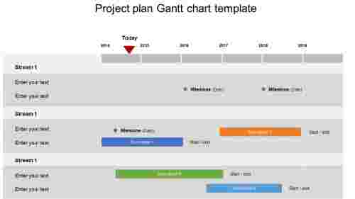 Project plan Gantt chart template PPT