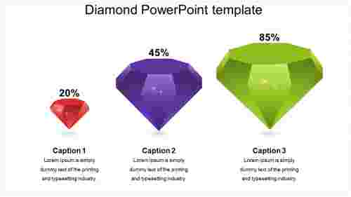 DiamondPowePointtemplatemodel