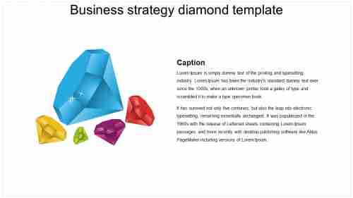 Business strategy diamond template