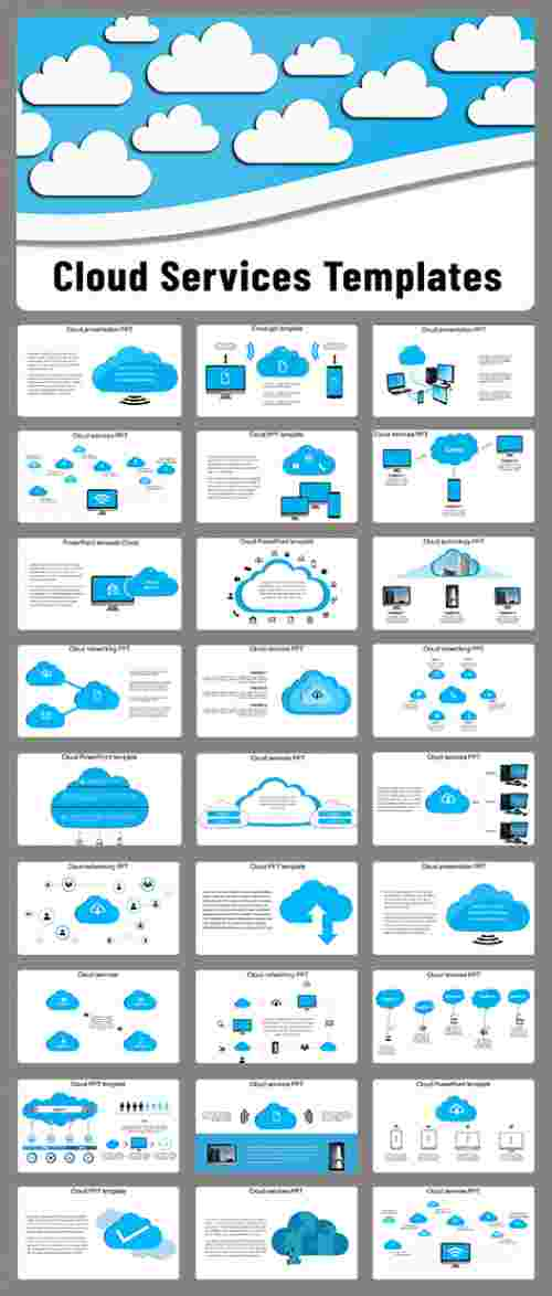 Cloud PPT template