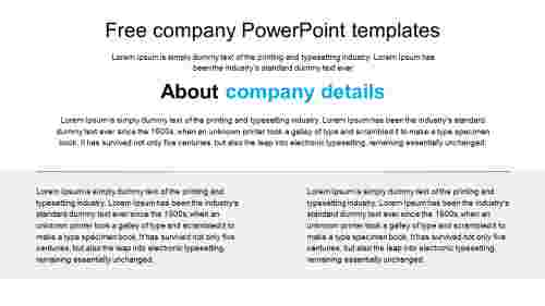 free company powerpoint templates for corporate business