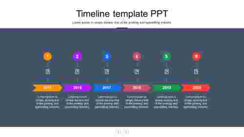 Sequence timeline template PPT