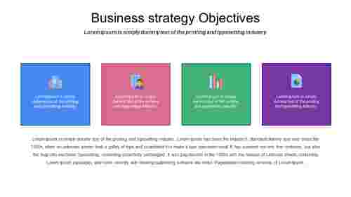 business plan strategic objectives PowerPoint slide