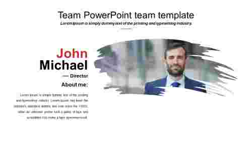 Simple powerpoint team template