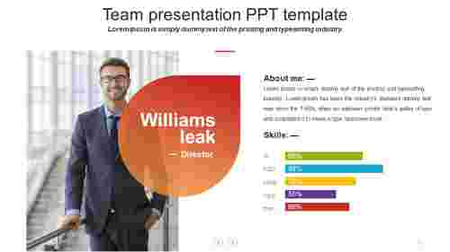 team presentation ppt template - Leaf model