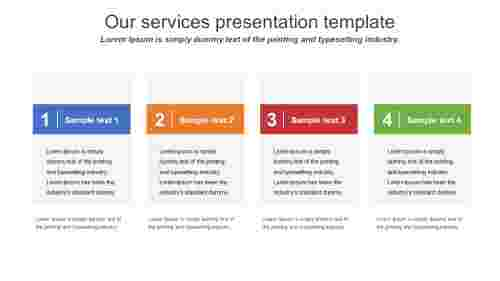 our services presentation template for company business