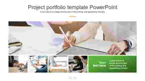 project portfolio template powerpoint presentation