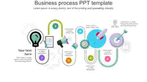 business process PPT template - curve model