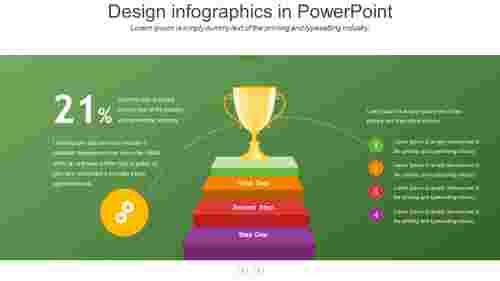 design infographics in powerpoint with background color