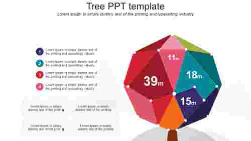 tree PPT template - diamond model