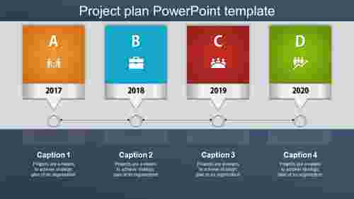 Creative project plan powerpoint template