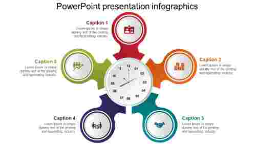 powerpoint presentation infographics - clock model