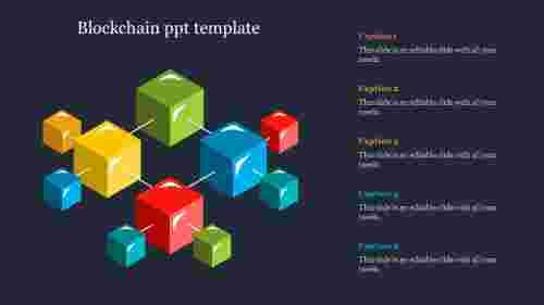 blockchainPPTtemplate-Cubemodel