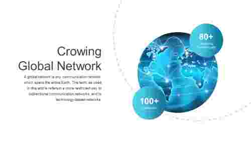 Editable global network powerpoint template