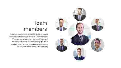 Best team member slide template