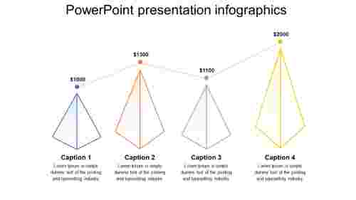 Simple powerpoint presentation infographics