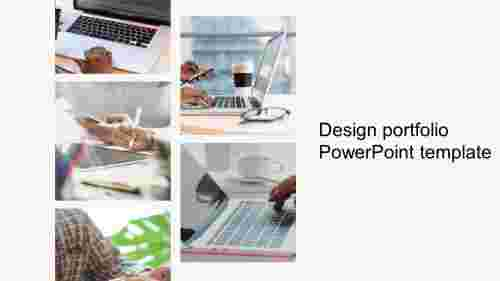 design portfolio powerpoint template slide