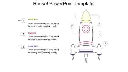 Infographics rocket powerpoint template