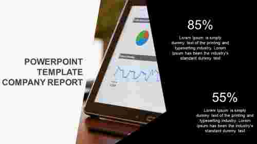 powerpoint template company report monthly