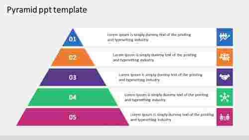 Editable pyramid PPT template