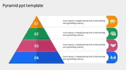 pyramid PPT template design