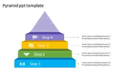Simple pyramid PPT template