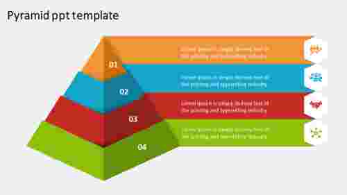 Attractive pyramid PPT template