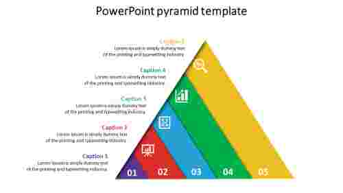 Model powerpoint pyramid template