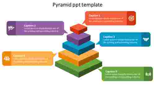 Easy editable pyramid PPT template