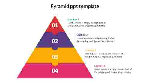 Puzzle model pyramid PPT template