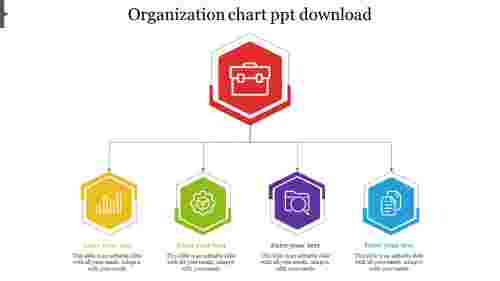 Organization Chart Template PPT-Hexagonal model