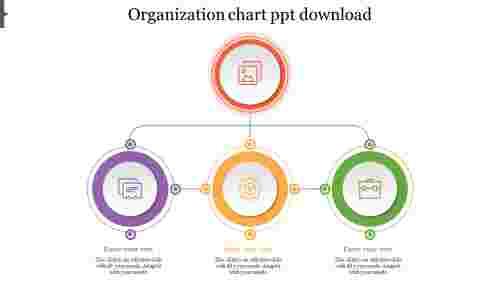 Attractive Organization Chart PowerPoint Download