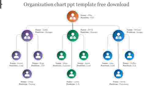 organization chart ppt template free download design