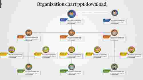Organization chart ppt download design for company