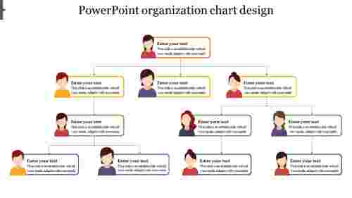 Model powerpoint organization chart design