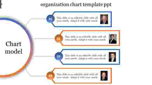 organization chart template ppt semi circle model